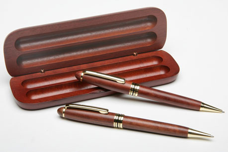 Illusion Rosewood Pen And Pencil Set
